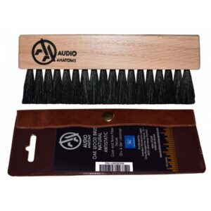 AUDIO ANATOMY - OAK WOOD BRUSH NATRUAL WITH ANTISTATIC GOAT AND NYLON FIBER - DELUXE (DRY &WET CLEANING)