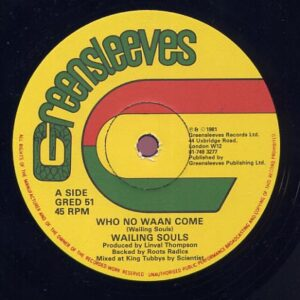 WAILING SOULS - WHO NO WAAN COME