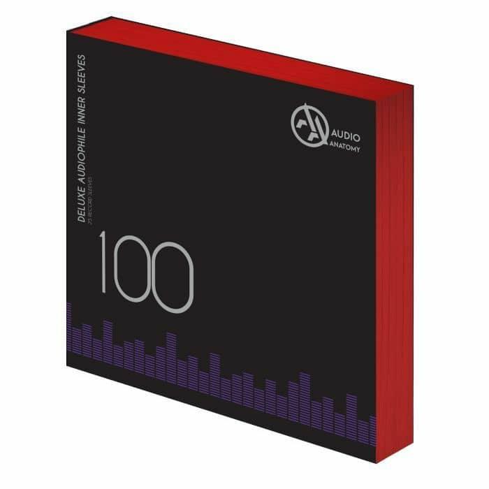 "Audio Anatomy Deluxe Anti-Static 12"" Vinyl Record Inner Sleeves ( pack of 100)"