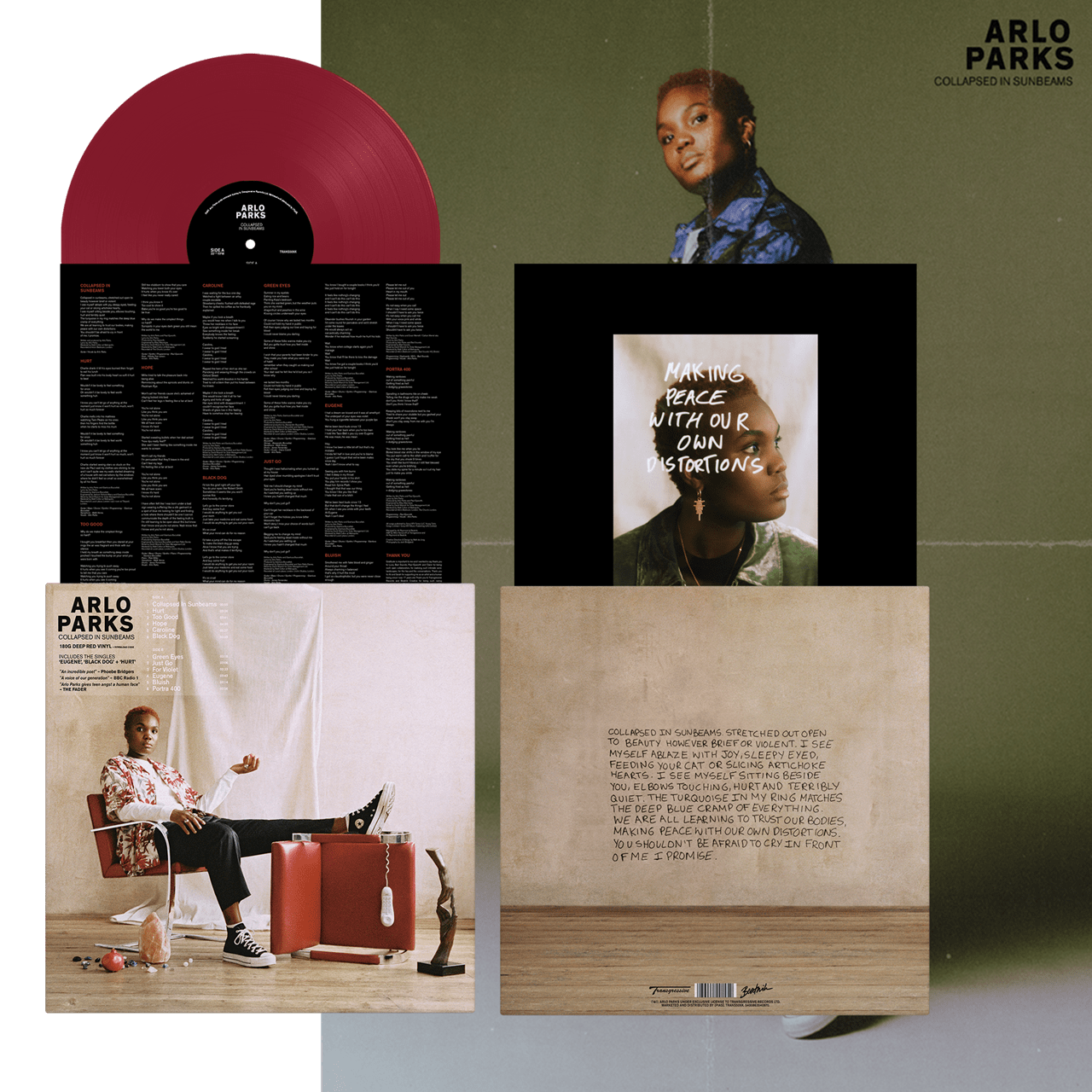 Arlo Parks - Collapsed in Sunbeams - Limited Edition Red Vinyl
