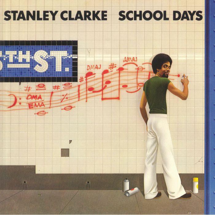 STANLEY CLARKE - SCHOOL DAYS (GOLD YELLOW BLUE SWIRL VINYL)